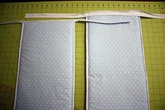 "This tutorial teaches how to make a 10"" tall reversible crib bumper with binding on all 4 edges."