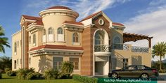 2 Storey House Design, Front Elevation Designs, Architectural House Plans, Plan Front, Fantasy House, House Layouts, Villa, How To Plan, Mansions