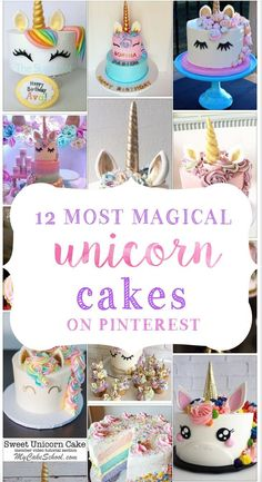Unicorn Cakes – Unicorn birthday cake — 12 Most Magical Unicorn Cakes on Pinter… – birthdaycakeideas Unicorn Themed Birthday Party, Birthday Party Themes, Birthday Ideas, 5th Birthday, Birthday Cakes, Unicorn Foods, Unicorn Cakes, Girls Party, First Birthdays