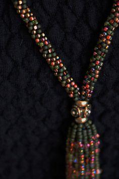 Swarovski Crystal Kumihimo Fringe Necklace by SeaSaltnPearls Fringe Necklace, Beaded Necklace, Beaded Bracelets, Braids With Beads, Beading Patterns, Crochet, Pink And Gold, Swarovski Crystals, Sparkle