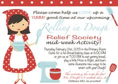 Sisters of the Temple Ward Relief Society: February RS Meeting--Rolling in Dough!