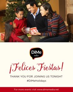Thank you everyone for joining us! Make sure to follow @DiMeMedia, @TheJollyMom and @HispanicKitchen on Pinterest for great holiday tips! ¡Felices Fiestas! #DiMeHolidays