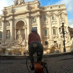 Picture of me while guiding a panoramic bike tour arriving at Trevi Fountain Rome Attractions, Rome Tours, Trevi Fountain, Come And Go, Ancient Romans, Italy Travel, Bicycles, Bike, Bicycle