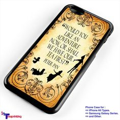 Disney Peter Pan Quote - Personalized iPhone 7 Case, iPhone 6/6S Plus, 5 5S SE, 7S Plus, Samsung Galaxy S5 S6 S7 S8 Case, and Other