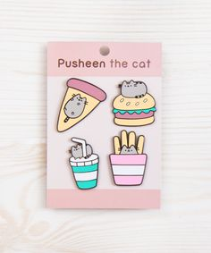 Gretta: Pusheen Fast Food metal pin set
