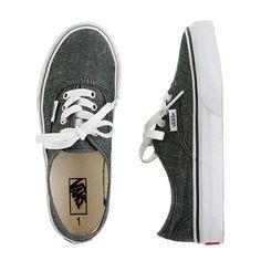 Kids' Vans® authentic chambray slip-ons #vans #shoes