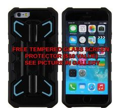 Bulk case for iphone 6,High quality 2 in1 Kickstand Case for iPhone 6 LITE BLUE #Unbranded
