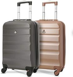 Aerolite ABS Bagage Cabine à Main Valise Rigide Léger 4 roulettes, Set de 2 (Rose Or + Charbon): Amazon.fr: Bagages Cabin Bag, Domestic Flights, Carry On Suitcase, Baggage Claim, Travel Essentials, Travel Bags, The Unit, Gallery, Travel Products