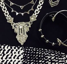 Silver madness! Need something sparkly for New Years Celebration? Choose from our Casablanca or Silver Pave Chevron necklace and pave spear bangle to complete your LBD.