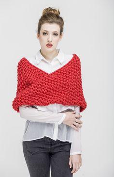 Katja Cape - Buy Wool, Needles & Yarn Cardigans - Buy Wool, Needles & Yarn Knitting kits | WE ARE KNITTERS