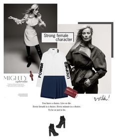 """""""Strong Enough"""" by olivochka ❤ liked on Polyvore featuring Murphy, Dsquared2, Skagen, Versace, Building Block, girlpower and powerlook"""