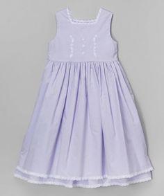 Another great find on #zulily! Lavender Cape Cod Lace Dress - Toddler & Girls by Savannah Children #zulilyfinds