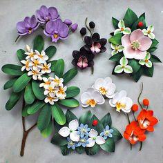 Quilling Flowers Tutorial, Paper Quilling Flowers, Quilling Art, Clay Flowers, Flower Mandala, Flower Art, Green Tea Plant, Paper Art, Paper Crafts