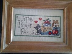 Wipe your paws. 4X6.