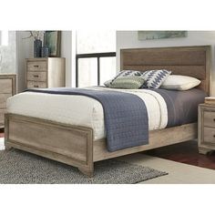 Found it at Wayfair - Payne Upholstered Platform Bed (just furniture, not this bedding)