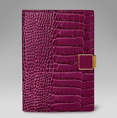 Mara passport cover in berry printed calf leather #SmythsonAW14 http://www.smythson.com/dark-berry-mara-passport-cover-with-slide.html