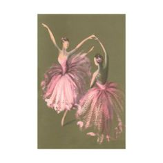 Ballet Dancers Art Poster Print, 13x18: Home