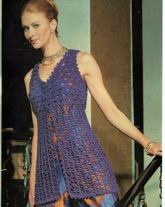 Items similar to PDF Vintage Womens Ladies Waistcoat Crochet Pattern Emu 2893 Lacy Bikini Beach Cover Up Medieval Hippy Chick Glamour Boho on Etsy Vintage Crochet Patterns, Baby Knitting Patterns, Vintage Knitting, Crochet Ideas, Gilet Crochet, Tunisian Crochet, Hippie Chick, Sleeveless Jacket, Crochet Clothes