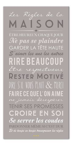 Stickers muraux citations sticker dans cette maison - Stickers muraux les regles de la maison ...