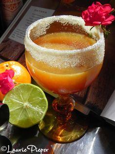 Havanna // orange slice  /sugar  /1 1/2 oz. rum (dark/golden)  /3/4 oz. Cointreau  /1/2 oz. fresh lime juice  /1/4 oz. simple syrup**  /Splash of fresh orange juice  /Dash of orange bitters  // Rim the glass with orange slice and sugar. Shake the remaining ingredients with ice and serve.