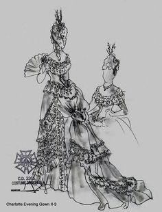 Roof of the World (Charlotte evening gown). Kansas City Repertory Theatre. Costume design by Gregory Gale. 2016