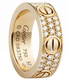 9700ecd894b9 The Cartier LOVE ring in pink gold with pave diamonds. A Cartier icon