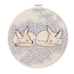 How Foxes Dreamed the World into Being Embroidery Kit by studiomme on Etsy https://www.etsy.com/listing/181047425/how-foxes-dreamed-the-world-into-being