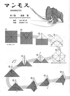Clown Mask designed by Hideo Komatsu Origami And Kirigami, Origami Paper Art, Oragami, Diy Origami, Origami Instructions, Origami Tutorial, Origami Rooster, Star Wars Origami, Monster Crafts