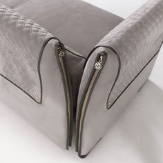 Vittoria Frigerio offers visible stitching and gold zippers for a classic, elegant style. #imiresource www.imoderni.com  sales@imoderni.com (305)964-8211
