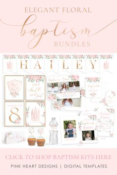 Save time preparing for your daughter's baptism with this beautiful baptism invitation and baptism program kit! Your information and photos can be added by you! Click to view the bundle! LDS Baptism Kit   LDS Baptism Invitation Girl   Baptism Girl   Editable Baptism Program   Baptism Template   LDS Baptism Printable   Corjl #baptisminvitation #LDSbaptism #girlbaptism #LDSprintable #baptismprogram #baptismkit #LDSbaptisminvitation Baptism Reception, Baptism Program, Baptism Invitations Girl, Baptism Party, Girl Baptism, Baptism Ideas, Invitation Kits, Party Invitations, Tent Cards