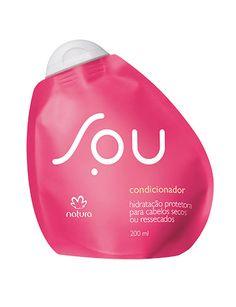 **Condicionador Hidratação Protetora SOU - 200ml** SOU um jeito novo de consumir. Agora, SOU também para seu cabelo. Um condicionador com hidratação restauradora, com força e brilho. Um condicionador bom para você e bom para o planeta. https://www.facebook.com/revendasonlinegoianiagyngo/?fref=ts