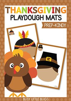 Thanksgiving Playdough Mats - Make a Thanksgiving Face! Thanksgiving Math, Skills To Learn, Child Face, Little Learners, Learning Tools, Literacy Centers, Fine Motor Skills, Preschool Activities, November