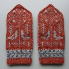 Ravelry: K. Nordic Jacquard mittens/Birds and grasses pattern by Yasuyo Okui おくいやすよ