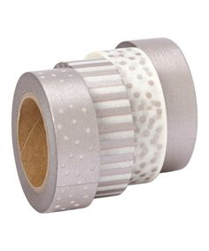 Look at this Rose Silver Washi Tape - Set of Three on #zulily today!