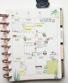 My latest #halfweek in my #happyplanner classic ☀️🌵🌱 Ma dernière moitie de semaine dans mon agenda #happyplanner classique ☀️🌵🌱 . . Watercolor Stickers, 4th November, Bullet Journal, Classic