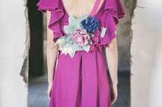 Red Bougainville Dress