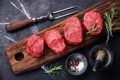 Photo about Raw fresh marbled meat Steak and seasonings on dark marble background. Image of steak, pepper, rare - 50699772 Raw Food Recipes, Meat Recipes, Omnivore Diet, Marbled Meat, Meat Steak, Gula, Fresh Meat, Grass Fed Beef, Steaks