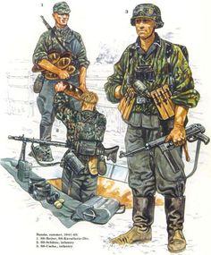 Waffen SS - Russia 1941-43 - 1 SS Reiter, SS Kavalerie Division - 2 SS-Schuetze - 3 SS-Uscha