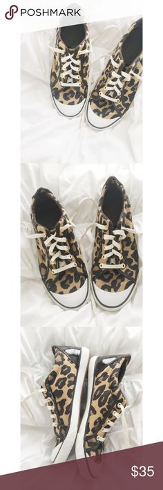 COACH Leopard Print Sneakers COACH Leopard print sneakers.  100% authentic.  Good condition with minor signs of wear.  Women's size 10m.  No box. Coach Shoes Sneakers