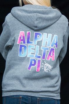ADPi Crest Hoody | 4 Greeks | Sorority & Fraternity | Design | Lifestyle | Apparel | Printing | Photography
