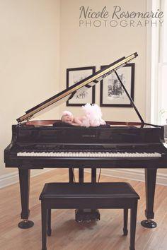 Newborn photography, Ballet, Piano