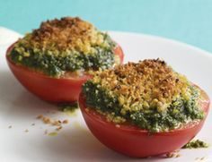 Broiled Tomatoes with Pesto