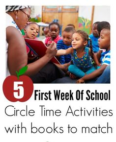Use these great circle time activities for the first week or two of preschool. Great start of the year lessons with free printables.