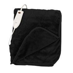 Ebern Designs Heated Throw Blanket Color: Black Faux Fur Blanket, Faux Fur Throw, Cotton Blankets, Soft Blankets, Heated Throw Blanket, Quilting Designs, Quilt Design, Luxury Throws, Blueberry Cheesecake