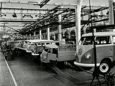 VW factory with Buses