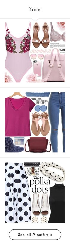 """Yoins"" by pastelneon ❤ liked on Polyvore featuring Quay, Casetify, yoins, yoinscollection, loveyoins, Chico's, casual, denim, Oscar de la Renta and GEDEBE"