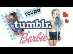 Como fazer roupa TUMBLR para Barbie e bonecas similares - YouTube