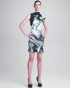 B1TXZ Vera Wang Ottoman Faille Sheath Dress