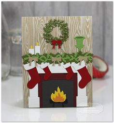 By the Chimney with Care by Jen Shults, handmade Christmas Card                                                                                                                                                                                 More