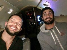 Finn and Seth ride a jet
